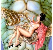 Hector-Gomez-ilustração-acrílico-papel-aerográfico-Sal-Quatuccio-poster-Jade-Warrior-1994