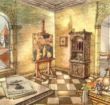 Hector-Gomez-ilustração-photoshop-painter-Editora-Abril-cd-capa-Leonardo-Da-Vinci-2006