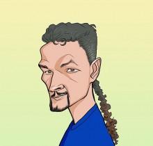 Hector-Gomez-ilustração-sketchbook-photoshop-Yahoo-site-figurões-da-copa-Baggio-2009