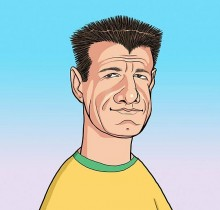 Hector-Gomez-ilustração-sketchbook-photoshop-Yahoo-site-figurões-da-copa-Dunga-2009