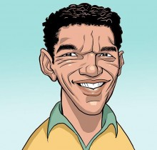 Hector-Gomez-ilustração-sketchbook-photoshop-Yahoo-site-figurões-da-copa-Garrincha-2009