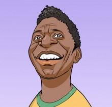 Hector-Gomez-ilustração-sketchbook-photoshop-Yahoo-site-figurões-da-copa-Pelé-2009