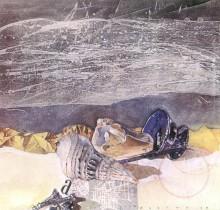 Hector-Gomez-pintura-trabalhos-autorais-tecnica-mista-Mr-Pollock-1990