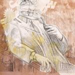 Pintura-Técnica Mista- Retrato de Sr Importante