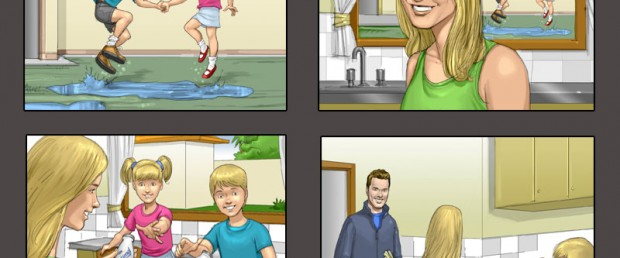Storyboards Young & Rubicam Danone Actimel